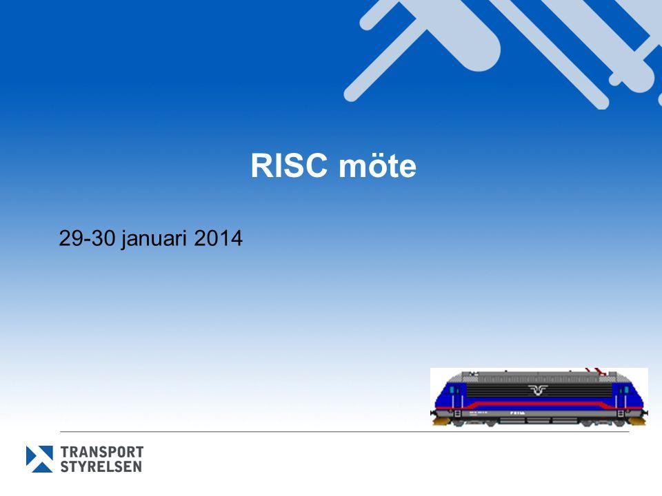 Omröstningar i RISC i januari Nya TSD Infrastruktur och TSD Energi - Sammanslagning av TSD högh.