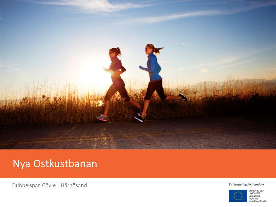 Ökar pulsen i hela Sverige Nya Ostkustbanan är en pulsåder i Sveriges export av varor och råvaror
