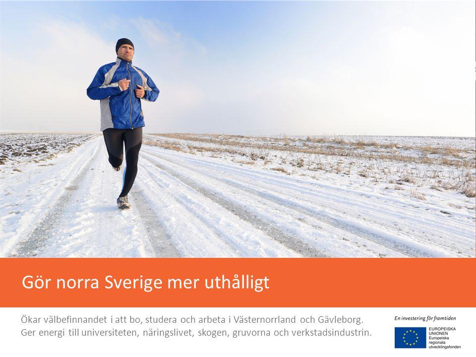 Ökar tempot i resandet 2 timmar från Stockholm till Sundsvall 30 minuter från Gävle till Hudiksvall 17 minuter från Sundsvall till Härnösand