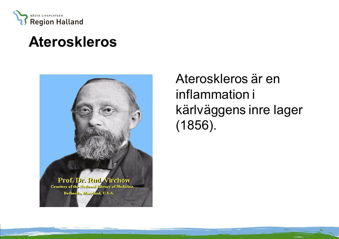 Ateroskleros Ateroskleros är en inflammation i kärlväggens inre lager (1856). 1821-1902