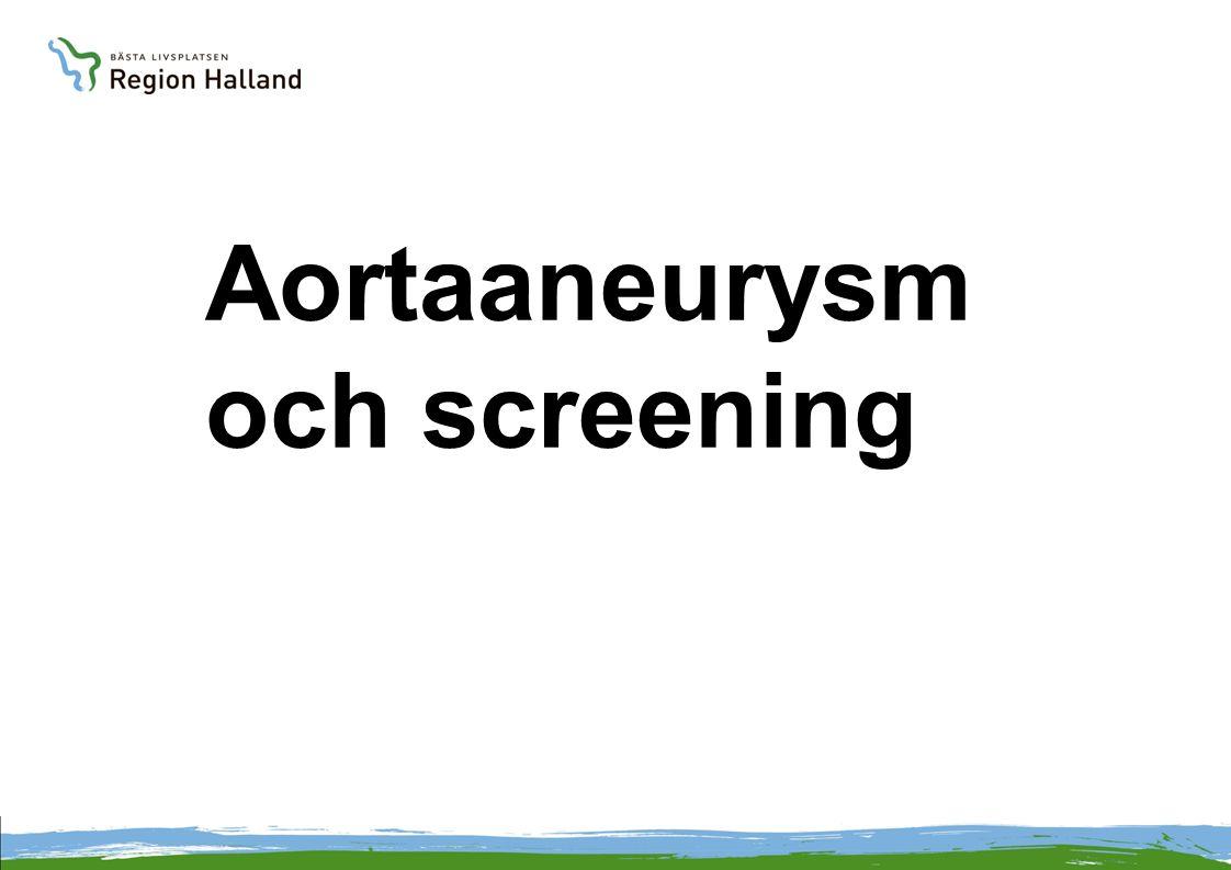 Aortaaneurysm och screening