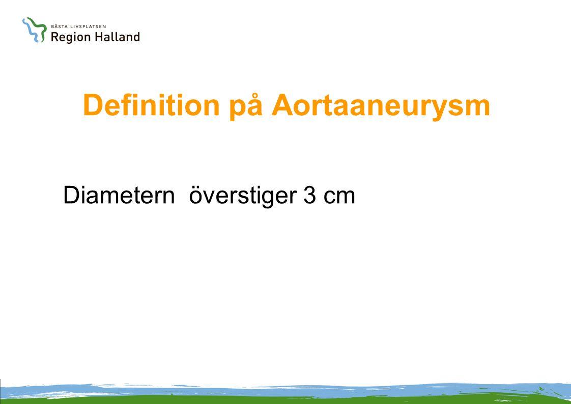 Definition på Aortaaneurysm Diametern överstiger 3 cm