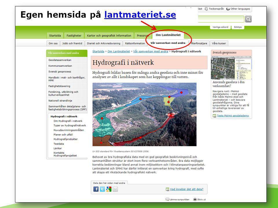 Projektinformation på lantmateriet.se Egen hemsida på lantmateriet.selantmateriet.se