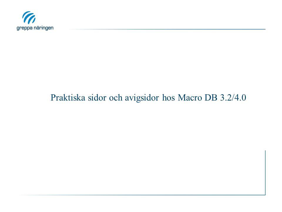 Praktiska sidor och avigsidor hos Macro DB 3.2/4.0