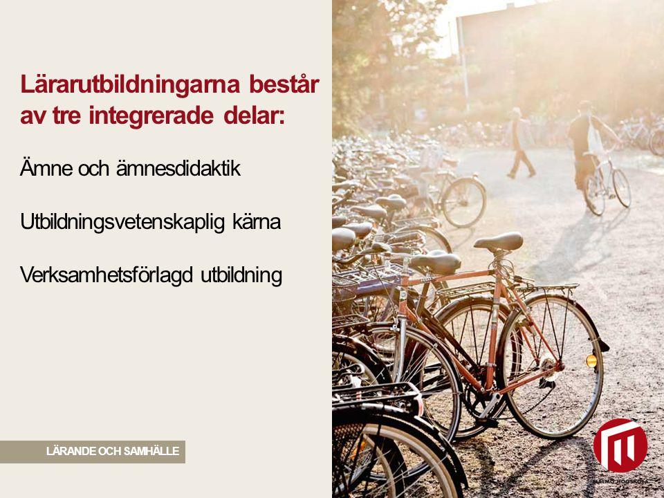 2010 05 04 LÄRANDE OCH SAMHÄLLE I samtliga utbildningar ingår 20 veckors VFU, fördelat på fem 4-veckorsperioder genom hela utbildningen, på en förskola eller skola i ett av Malmö högskolas partnerområden.