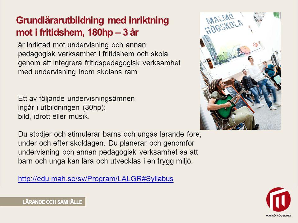 2010 05 04 är inriktad mot undervisning och annan pedagogisk verksamhet i fritidshem och skola genom att integrera fritidspedagogisk verksamhet med un