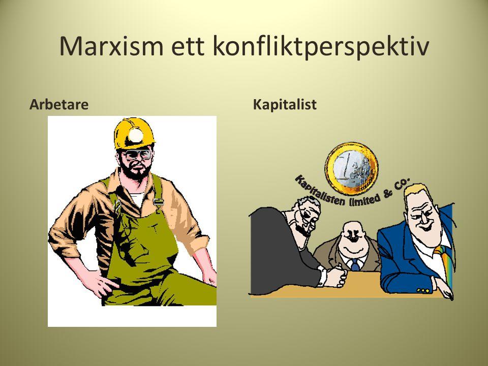Marxism ett konfliktperspektiv ArbetareKapitalist