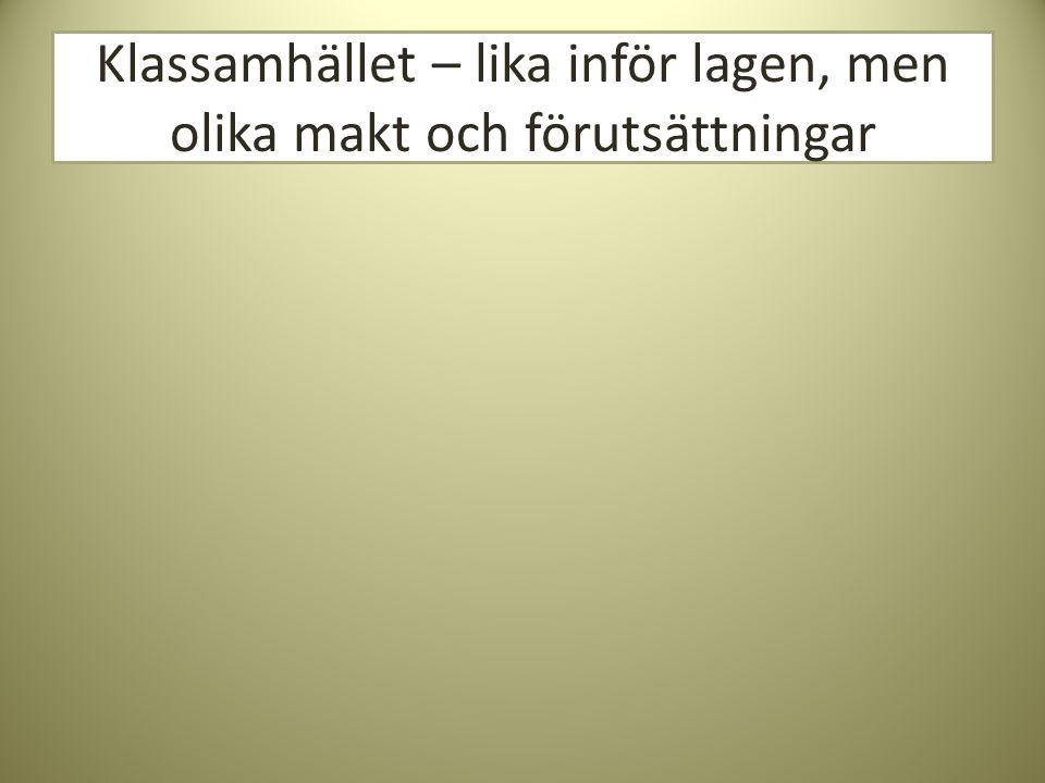 Arbetarklass i Sverige YRKESGRUPP Normalt utbildningskrav efter grundskola Andel av befolkningen (2004) Andel kvinnor ANSTÄLLDA (OFTAST LO) Arbetare (yrken normalt organiserade inom LO) a.Ej facklärda, varuproducerande b.Ej facklärda, tjänsteproducerande Mindre än två år Enkla industrijobb Kassabiträde 32% 52% a.Facklärda, varuproducerande b.Facklärda, tjänsteproducerande Minst två år Elektriker Frisör 16%38%