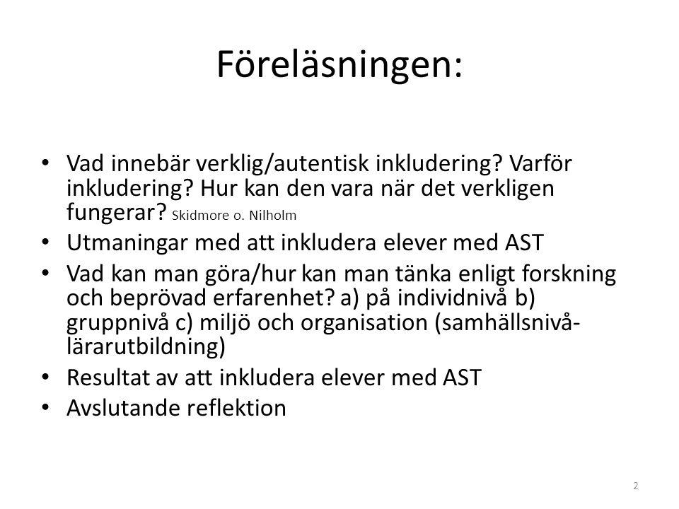 Referenser • Aspeflo,U.(2010) Aspeflo om Autism. Pavus utbildning.