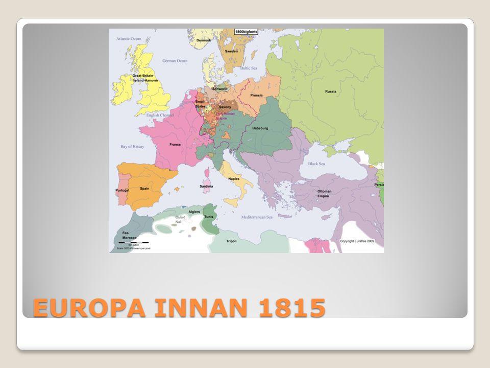 EUROPA INNAN 1815