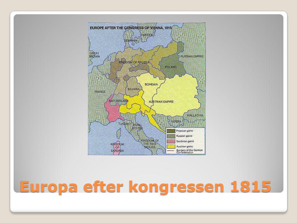 Europa efter kongressen 1815