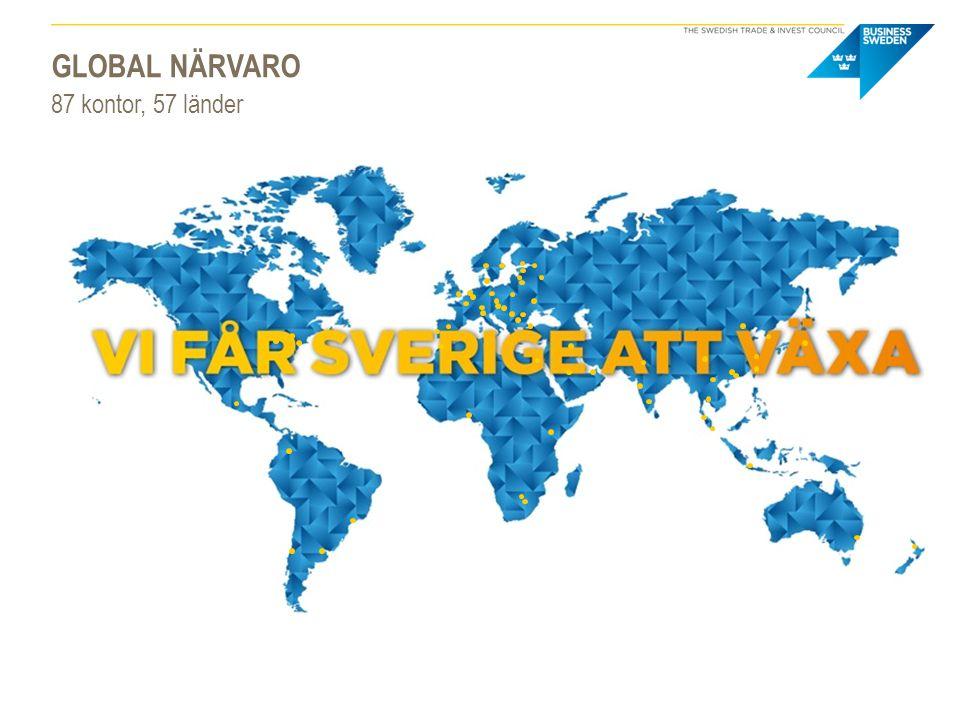GLOBAL NÄRVARO 87 kontor, 57 länder