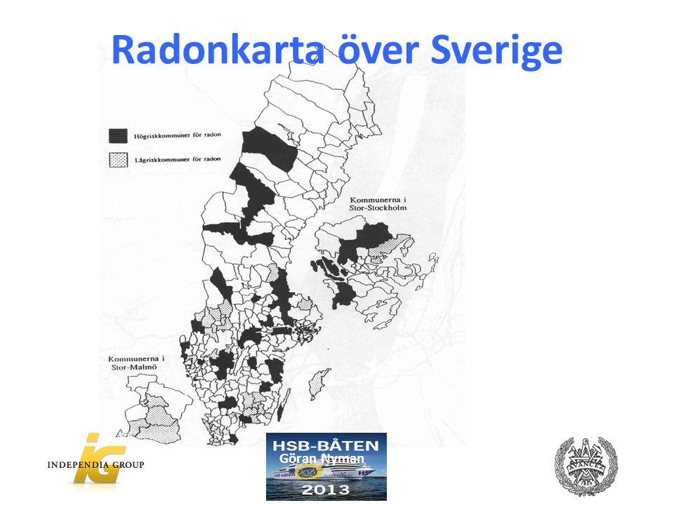 Radonkarta över Sverige Göran Nyman