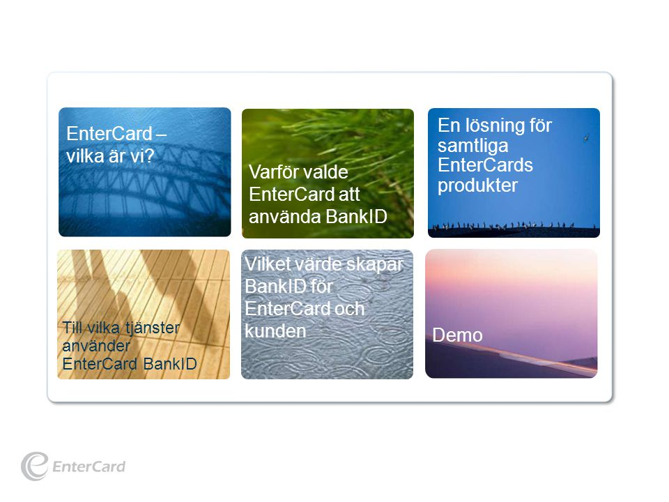 © EnterCard, January 2010 For internal use only Annika Vangstad 3 EnterCard – vilka är vi?