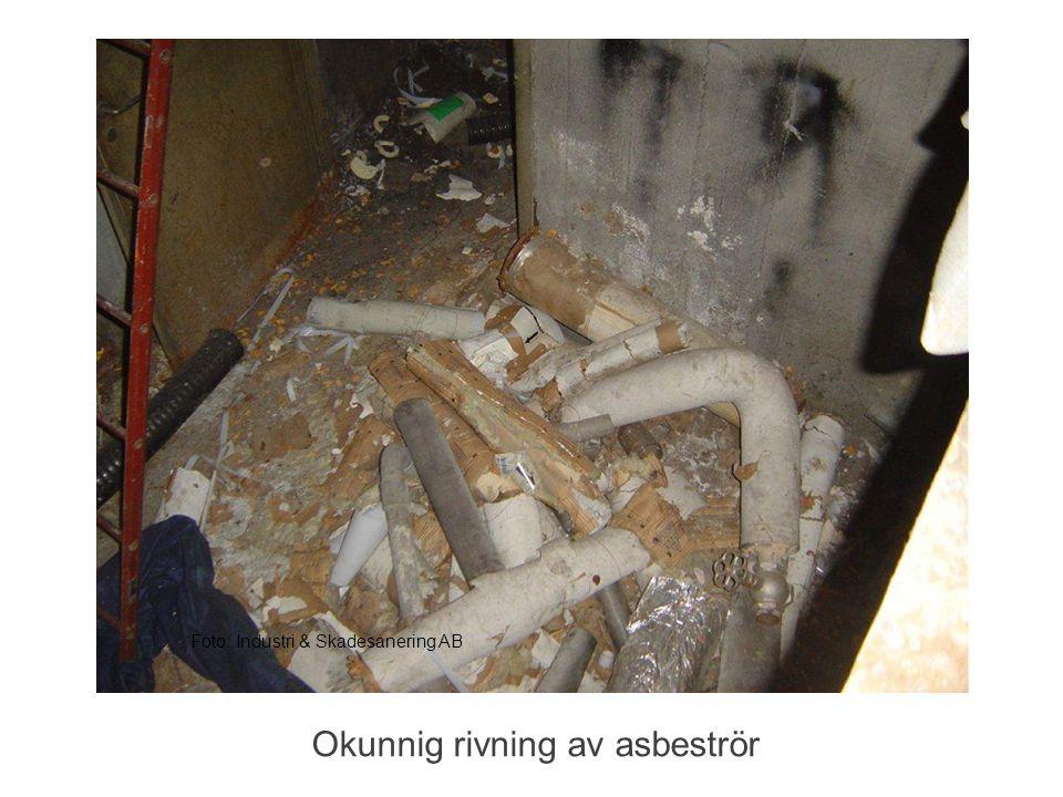 Foto: Industri & Skadesanering AB Okunnig rivning av asbeströr