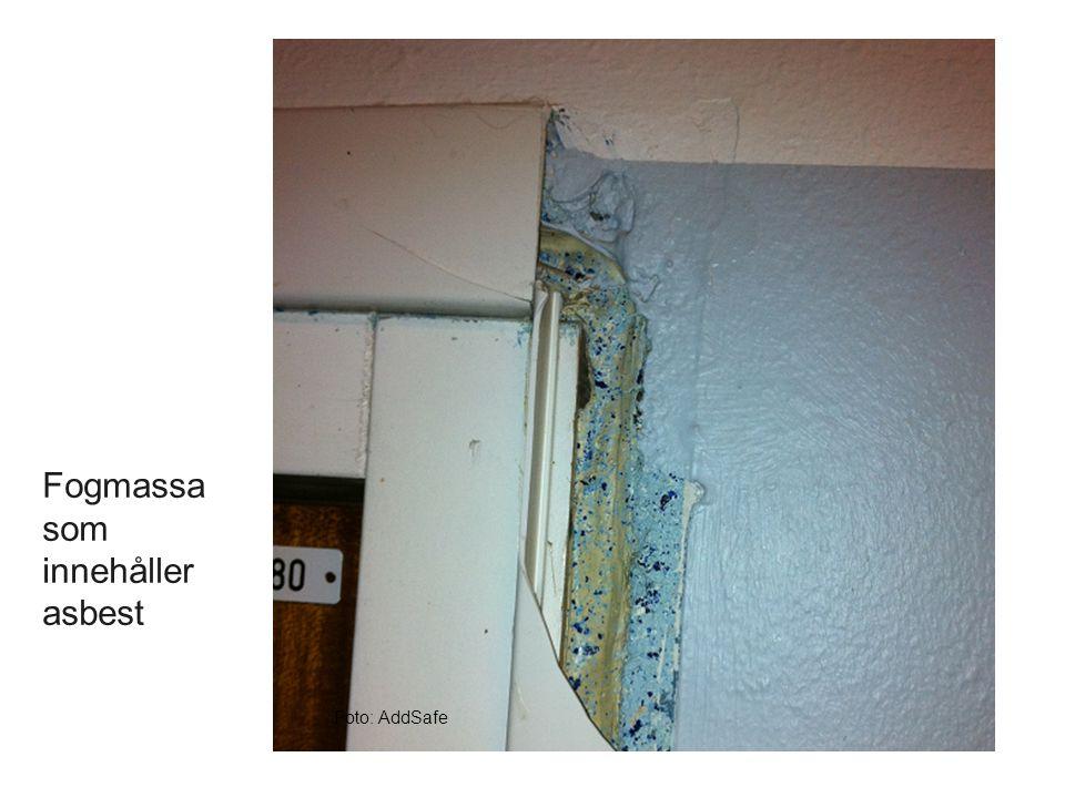 Foto: AddSafe Fogmassa som innehåller asbest