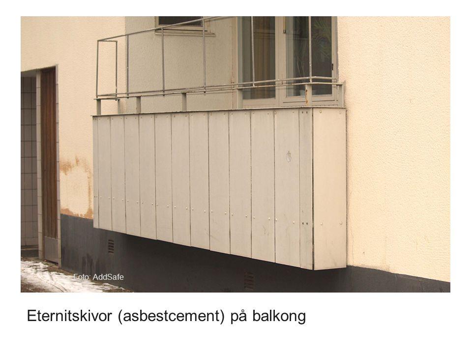 Foto: AddSafe Eternitskivor (asbestcement) på balkong