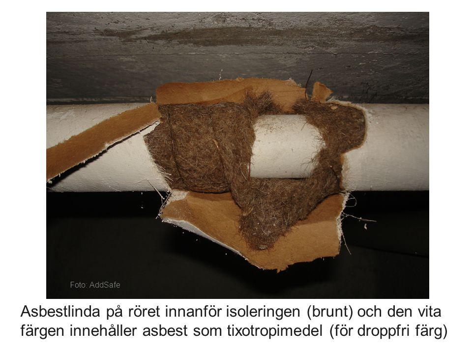 Foto: Industri & Skadesanering AB Takplåt med asbesthaltig färg ska tas bort
