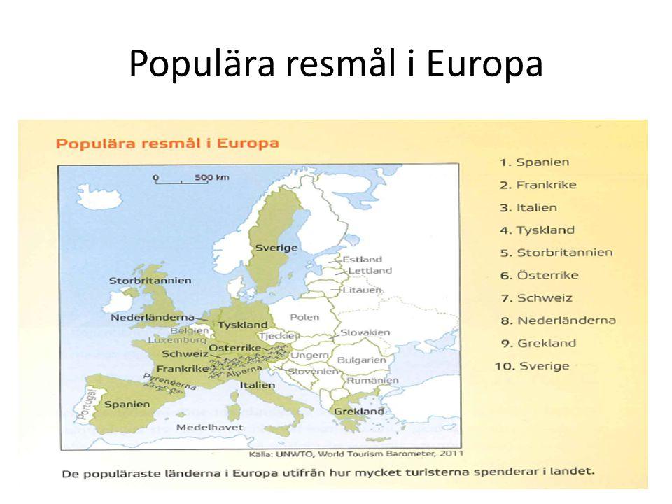 Populära resmål i Europa