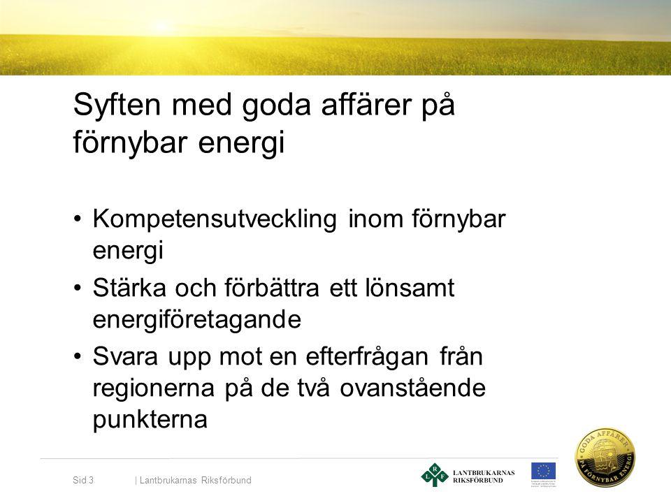 Syften med goda affärer på förnybar energi •Kompetensutveckling inom förnybar energi •Stärka och förbättra ett lönsamt energiföretagande •Svara upp mo