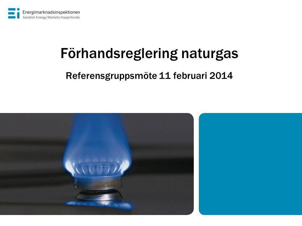 Förhandsreglering naturgas Referensgruppsmöte 11 februari 2014