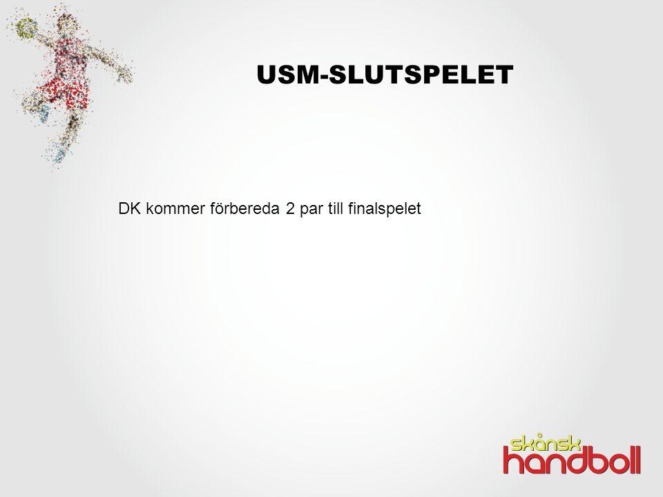 USM-SLUTSPELET DK kommer förbereda 2 par till finalspelet