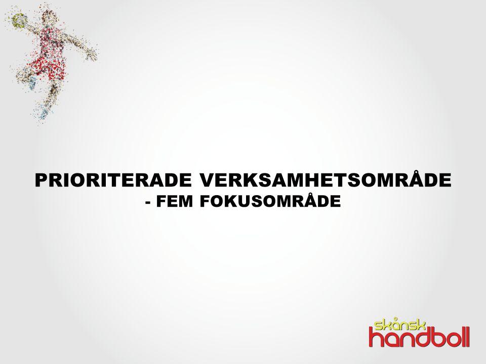 PRIORITERADE VERKSAMHETSOMRÅDE - FEM FOKUSOMRÅDE