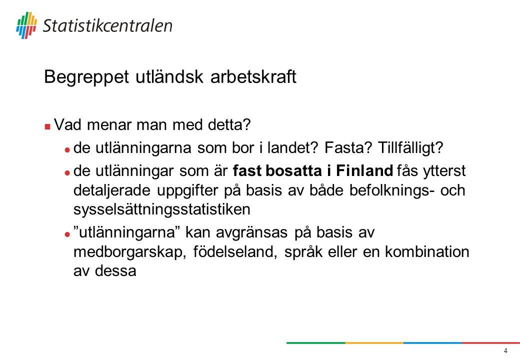 Antalet utländska sysselsatta på basis av vissa utlänningsgrunder (fast bosatta i Finland) 5