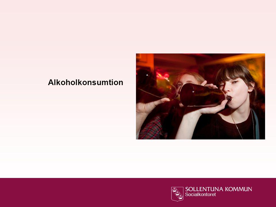 Socialkontoret Alkoholkonsumtion