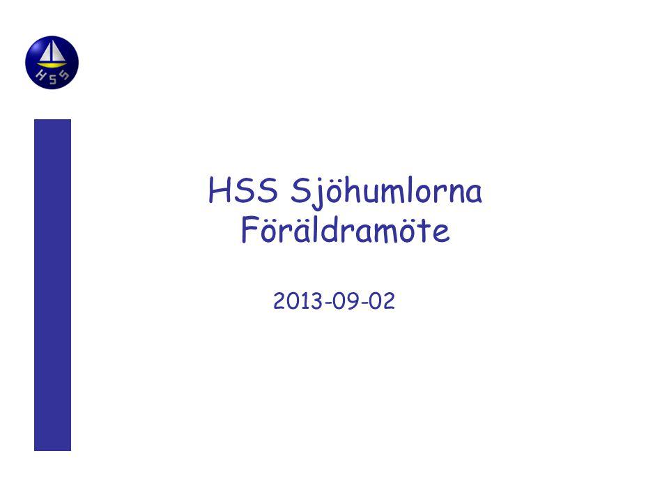 HSS Sjöhumlorna Föräldramöte 2013-09-02
