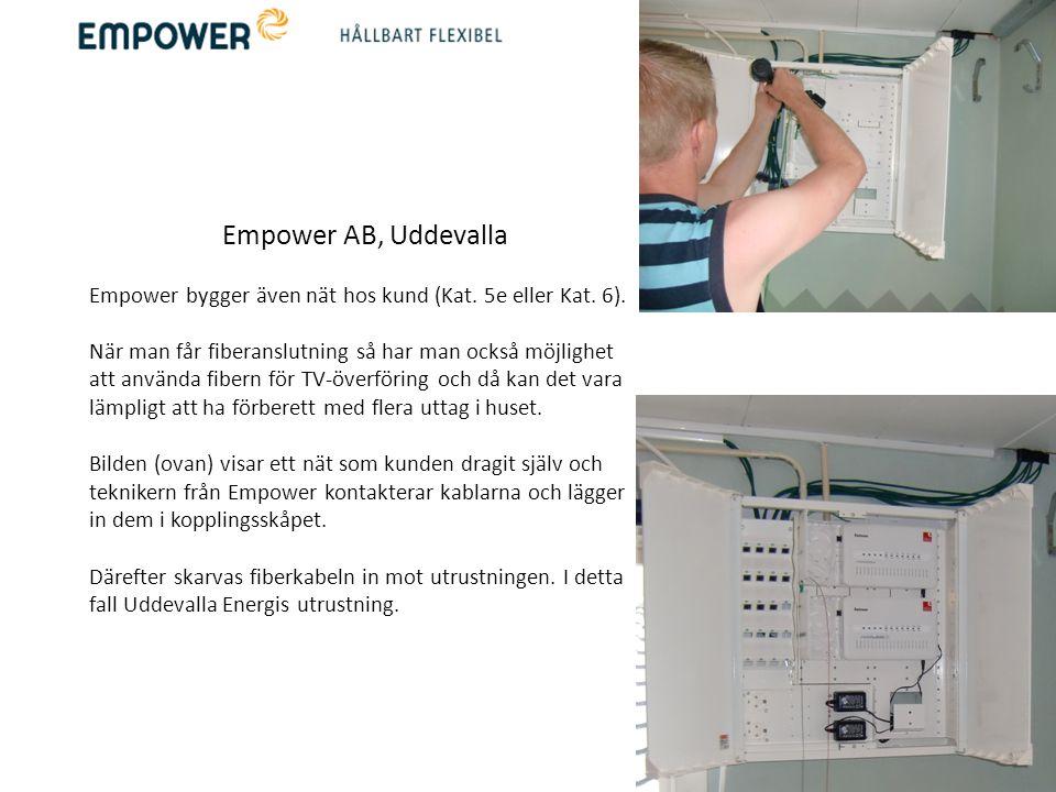 Empower AB, Uddevalla FTTH (fiber to the home) är nät som byggs för framtiden och för framtida generationer.