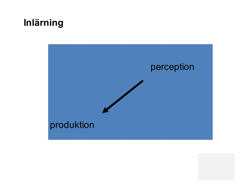 produktion perception Inlärning