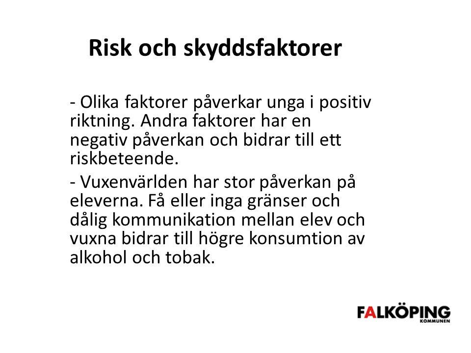 Risk och skyddsfaktorer - Olika faktorer påverkar unga i positiv riktning.
