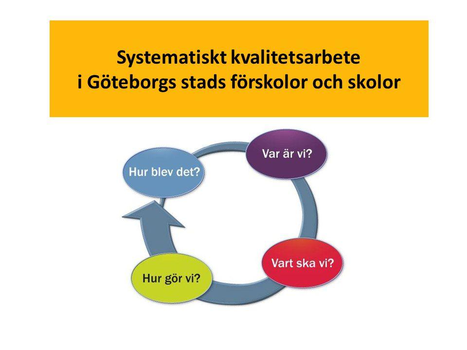 Systematiskt kvalitetsarbete i Göteborgs stads förskolor och skolor