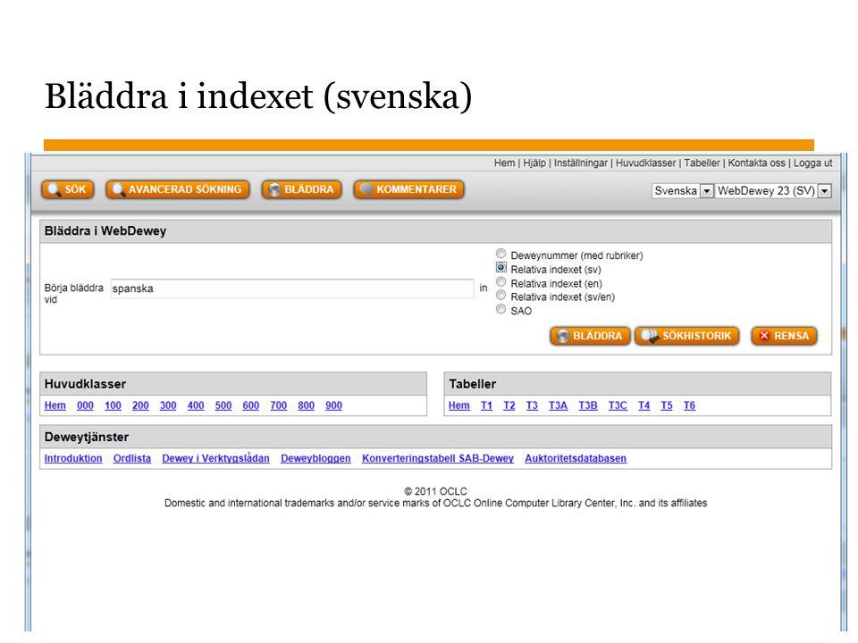 Sidnummer 2013-01-22 14 Bläddra i indexet (svenska)