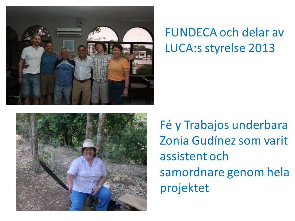 Fé y Trabajos underbara Zonia Gudínez som varit assistent och samordnare genom hela projektet FUNDECA och delar av LUCA:s styrelse 2013