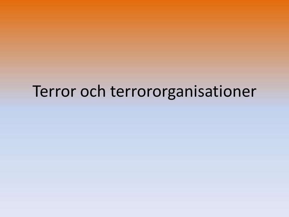 Terror och terrororganisationer
