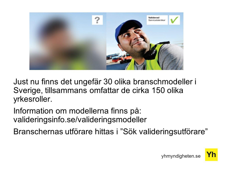 yhmyndigheten.se Just nu finns det ungefär 30 olika branschmodeller i Sverige, tillsammans omfattar de cirka 150 olika yrkesroller. Information om mod