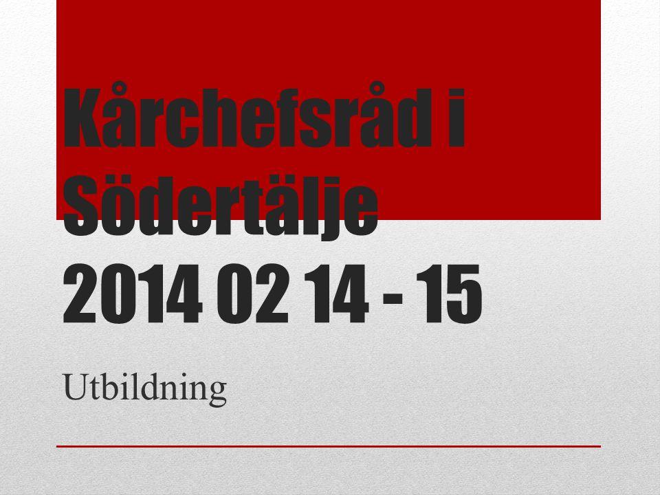 Kårchefsråd i Södertälje 2014 02 14 - 15 Utbildning