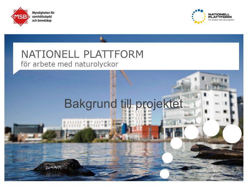 NATIONELL PLATTFORM för arbete med naturolyckor Bakgrund till projektet