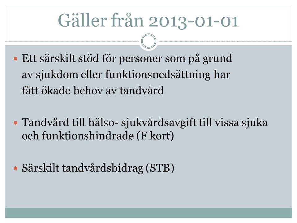 Särskilt tandvårdsbidrag STB  Läkarintyg.