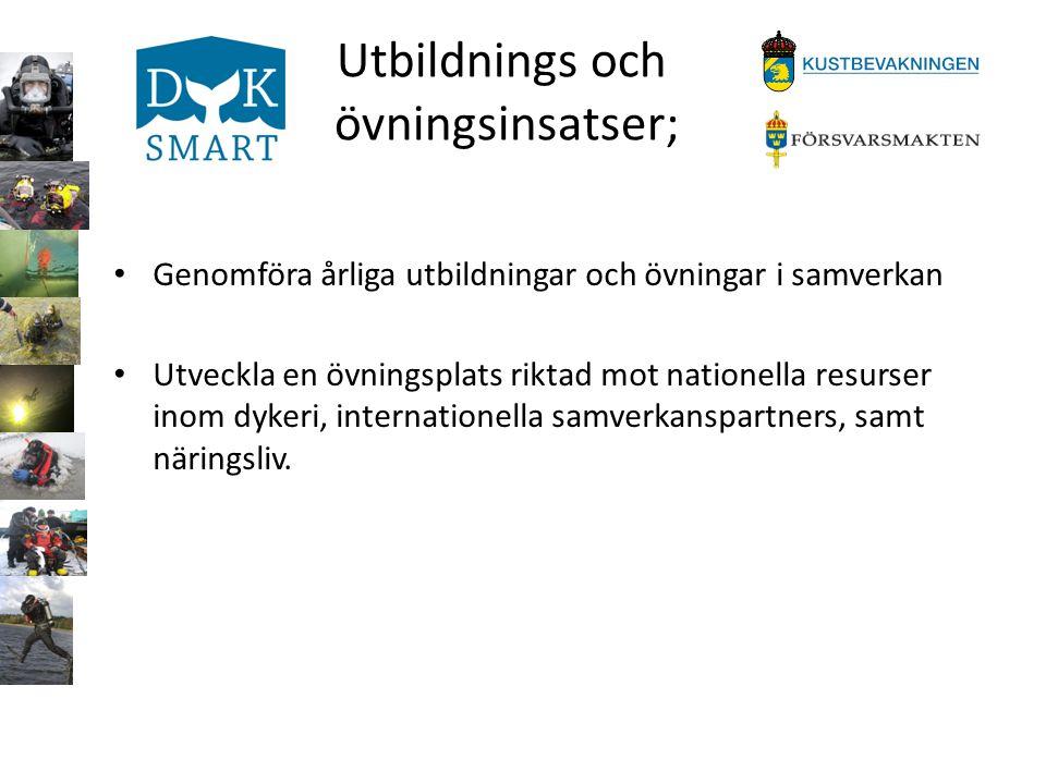 Internationell dimension; • Att söka kontakt för utveckling med likartade pågående projekt på europeisk nivå • Att uppsöka dykare i motsvarande myndigheter och organisationer i länderna omkring Östersjön, för en utveckling av ett internationellt projekt i ett gemensamt hav.