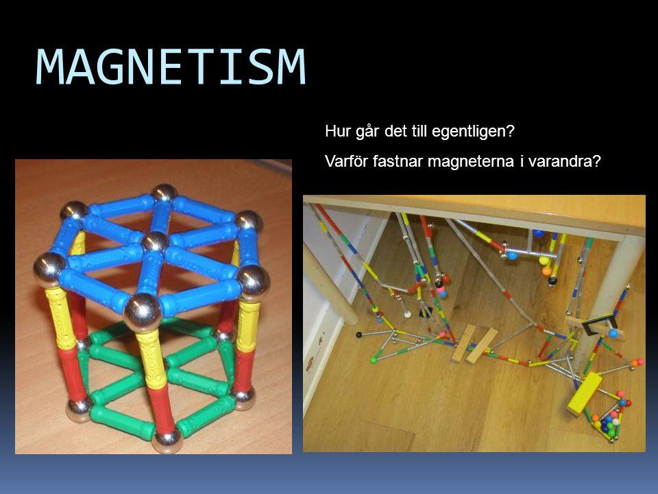 MAGNETISM Hur går det till egentligen? Varför fastnar magneterna i varandra?