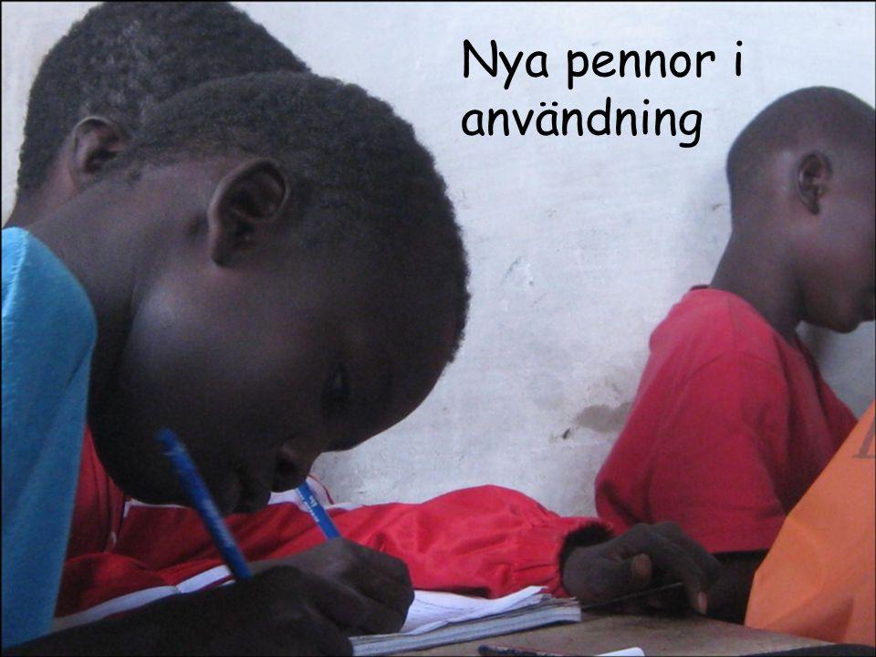 Nya pennor i användning