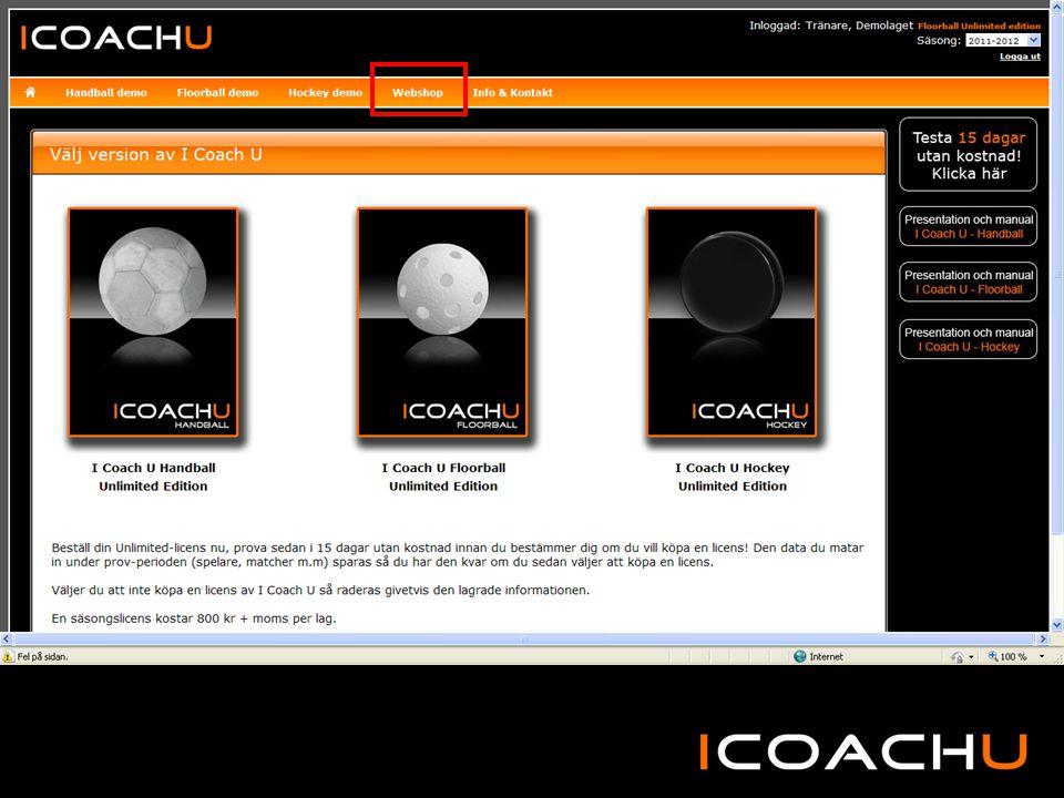 Testa I Coach U gratis i 15 dagar och se klippen på You Tube.