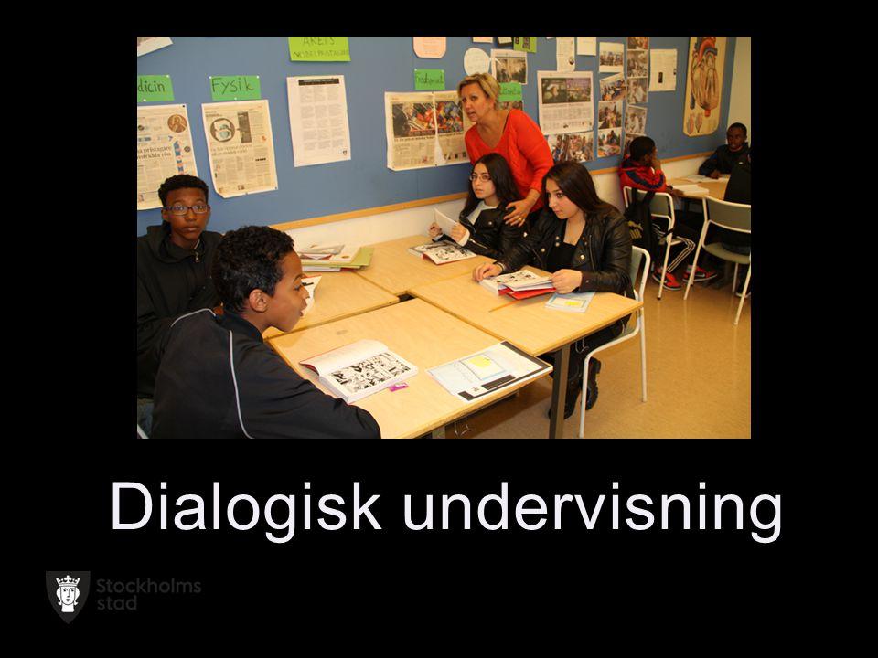 2014-06-22 Sida 20 I det dialogiska klassrummet är kunskapen Inte given på förhand utan istället öppen för en egen tolkning och kritisk granskning.