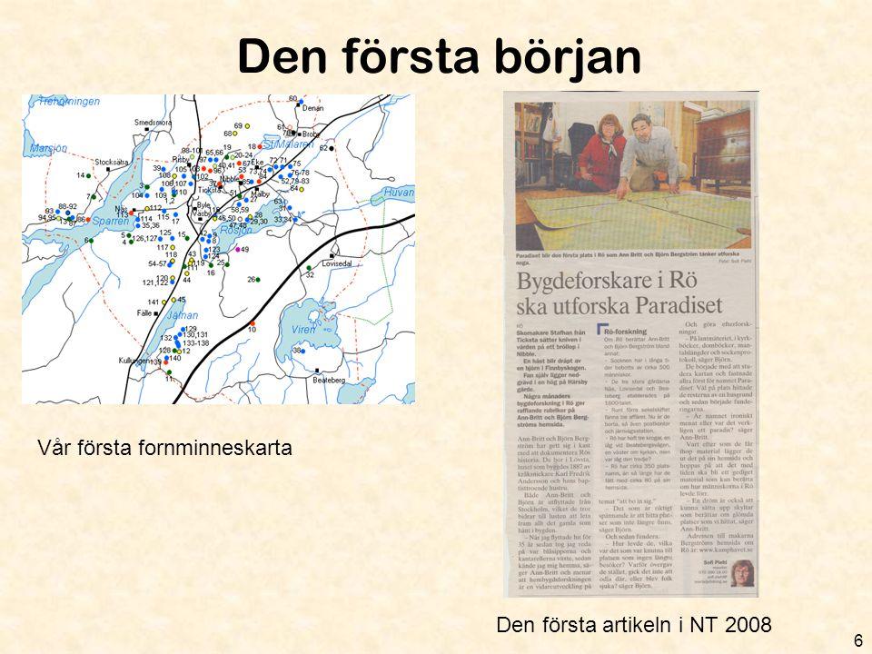 Bilder från i år 17 Exkursion till fornborgen GullstenResa med museijärnvägen Promenad till Näs' torpställenNäs' byggnadshistoria: Sanspareillen