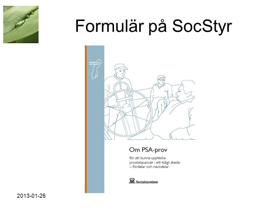 Formulär på SocStyr 2013-01-26