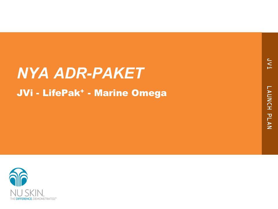 JVi LAUNCH PLAN NYA ADR-PAKET JVi - LifePak + - Marine Omega