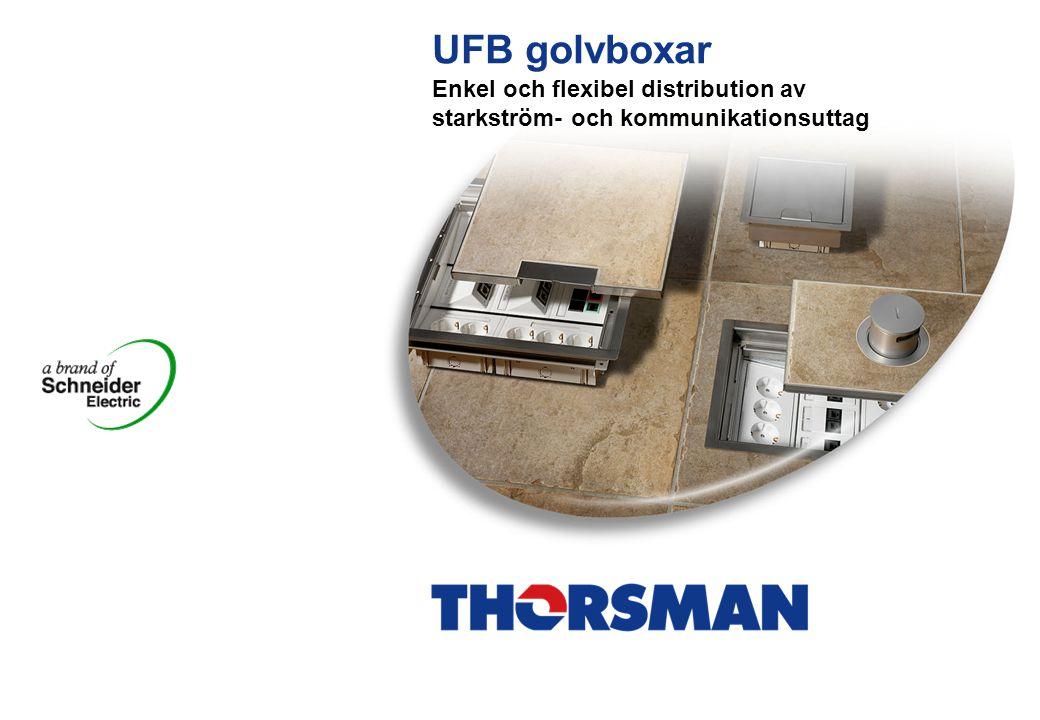 UT/Ulf/UFB/Aug 2005/SE 2 Gemensamma egenskaper för alla* UFB golvboxar  Vridbart lock.